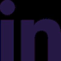 LinkedIn logo navy